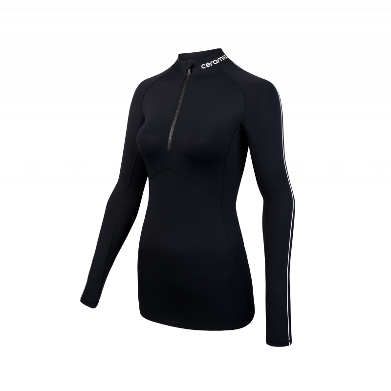 6997abd57ac0b Empowered by the Ceramiq® Gold Reflect'line® technology, this zipped long  sleeve t-shirt is designed for Running and Fitness workouts.
