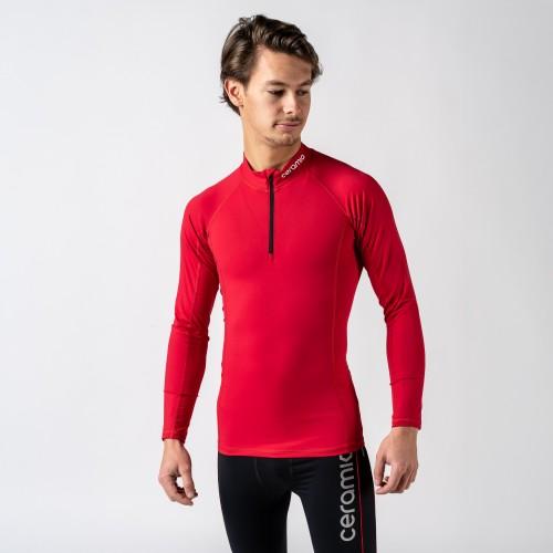 T-shirt manches longues demi zip pour homme