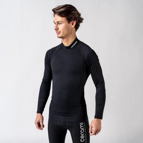 T-shirt manches longues col montant pour homme