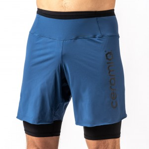 COMBI CUISSARD SHORT POUR HOMME TISSU MICRO-PERFORE LASER